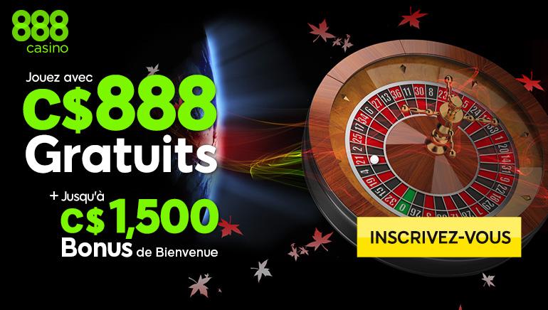 888 Casino Égalise Généreusement les Quatre Premiers Dépôts
