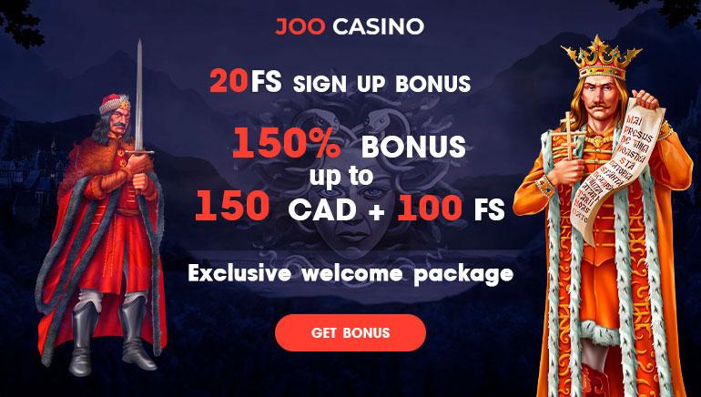 Joo Casino - 150% DE BONUS JUSQU'À 100 EUR ET 100 TOURS GRATUITS - OFFRE TOTALE 450 EUR + 150 FS