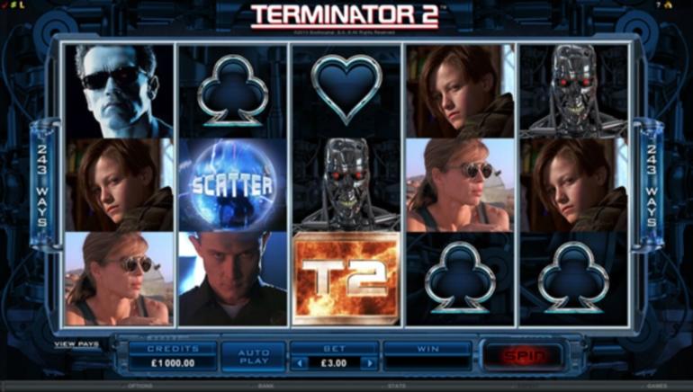 Sortie d'un nouveau jeu : la machine à sous vidéo Terminator 2